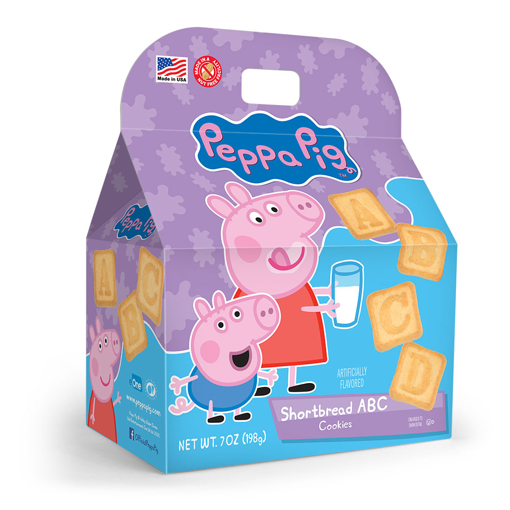Peppa Pig ABC Shortbread Cookies Gable Box