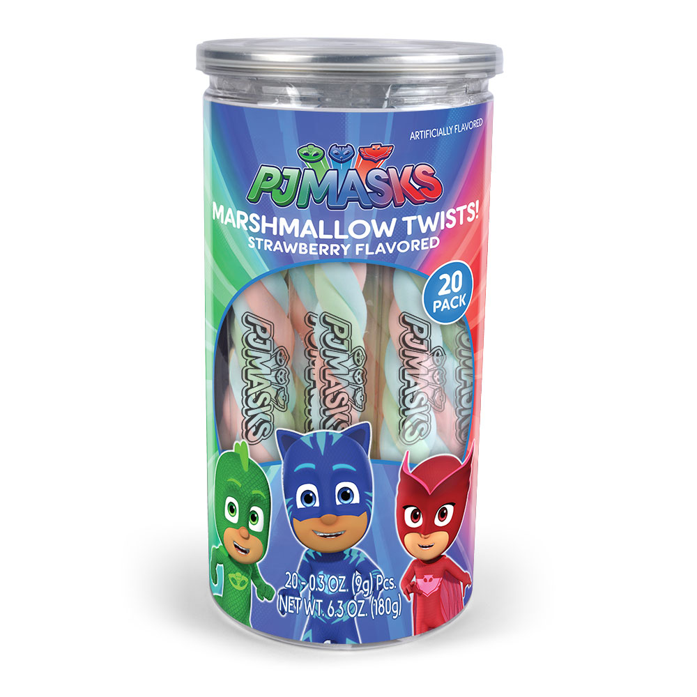 20pk PJ Masks Mallow Twist Tub