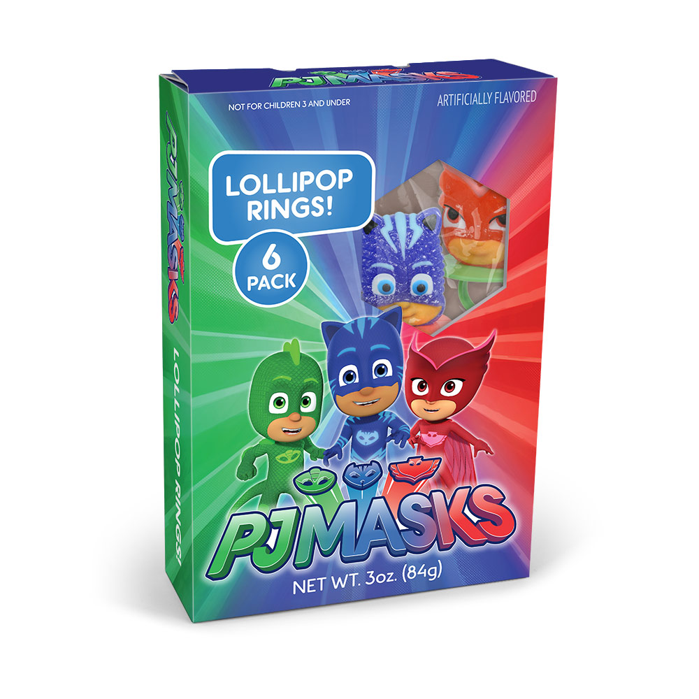 6pk  PJ Masks Lollipop Rings Gift Box