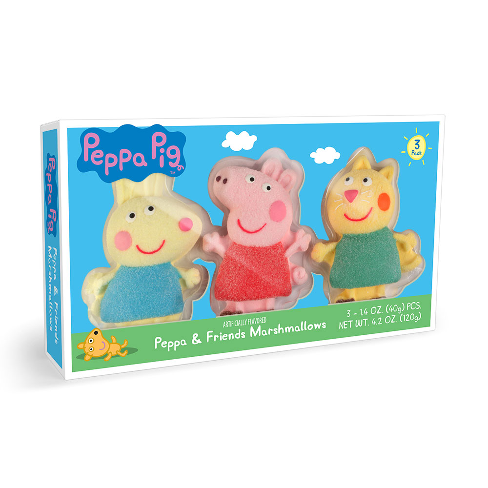 3pk Peppa Pig Everyday Shaped Marshmallows