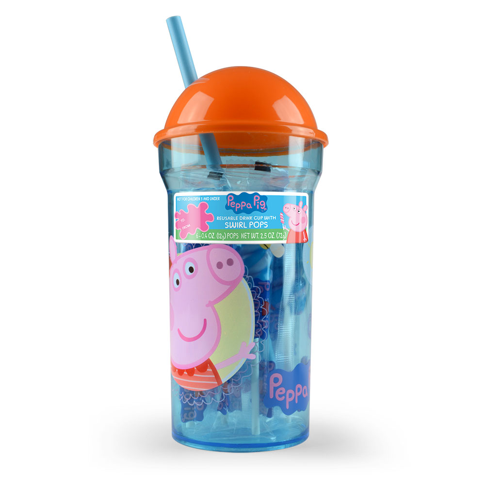Peppa Pig Everyday Dome Cup with Swirl Pops