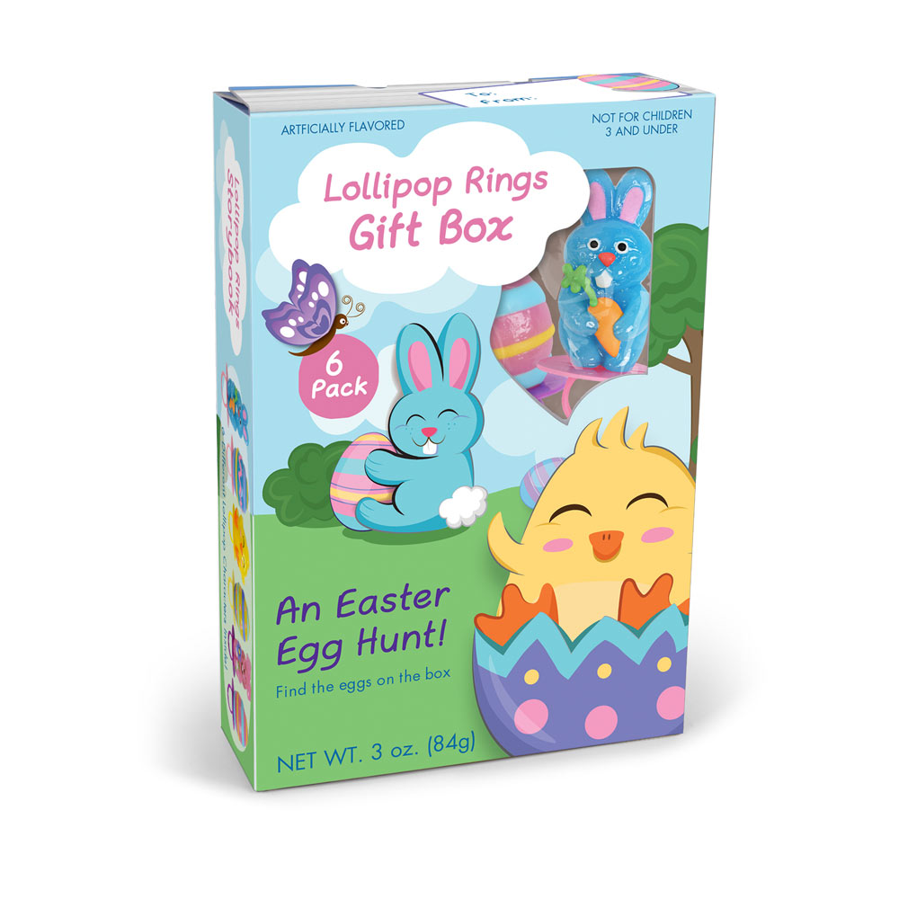 6pk Easter Lollipop Rings Gift Box