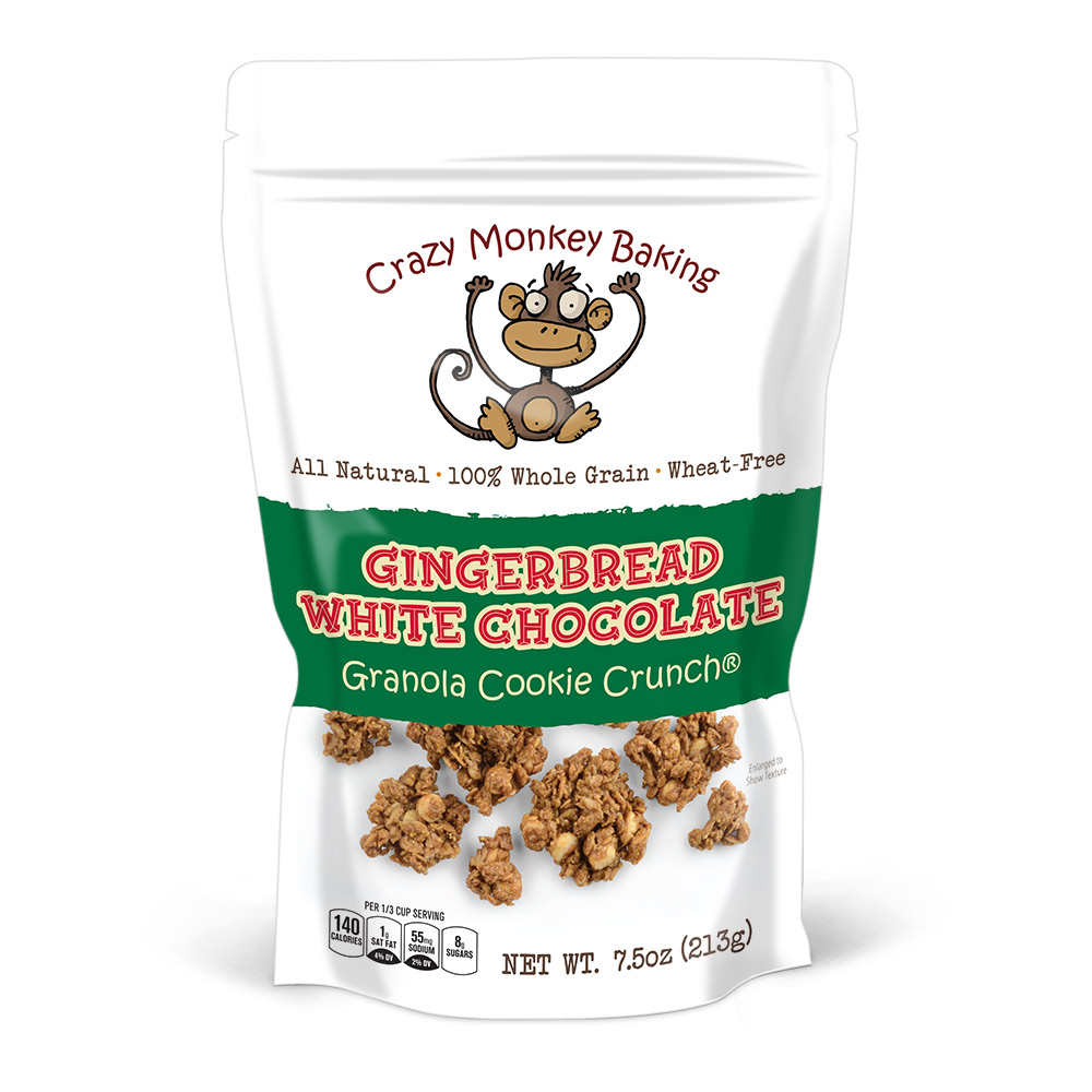 Gingerbread White Chocolate Granola Cookie Crunch