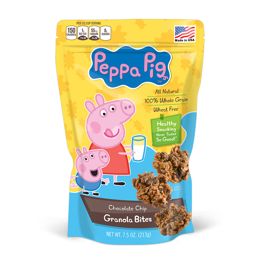 Peppa Pig Chocolate Chip Granola Bites