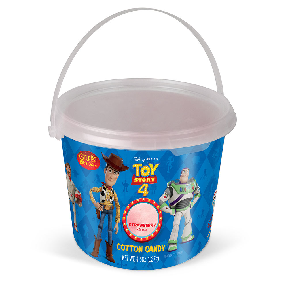 4.5oz Toy Story 4 Cotton Candy Tub, Strawberry